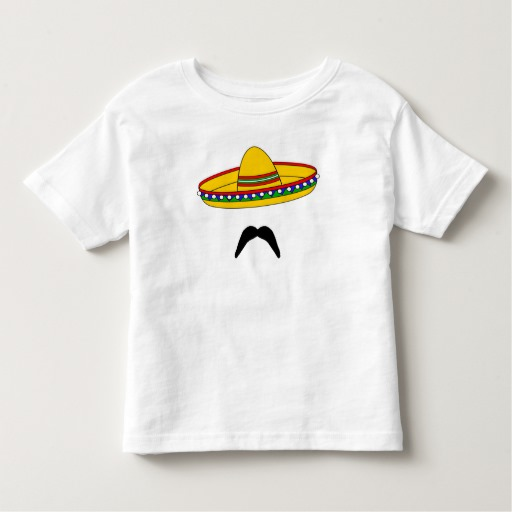 Mustache and Sombrero Toddler Fine Jersey T-Shirt