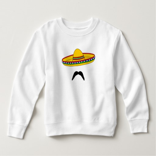 Mustache and Sombrero Toddler Fleece Sweatshirt