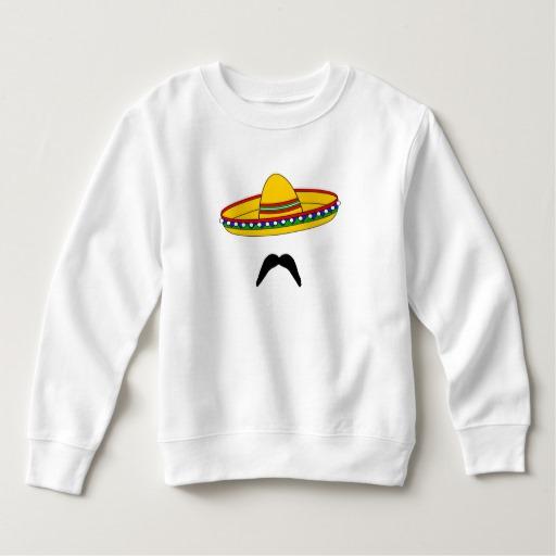 Mustache and Sombrero Toddler Fleece Sweatshirt