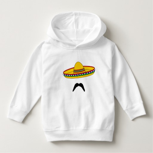 Mustache and Sombrero Toddler Pullover Hoodie
