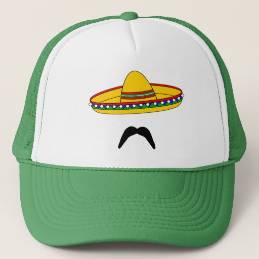 Mustache and Sombrero Trucker Hat