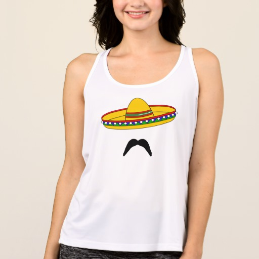 Mustache and Sombrero Women's All Sport Performance Tank Top