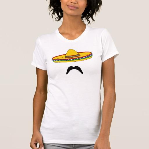 Mustache and Sombrero Women's Alternative Apparel Crew Neck T-Shirt