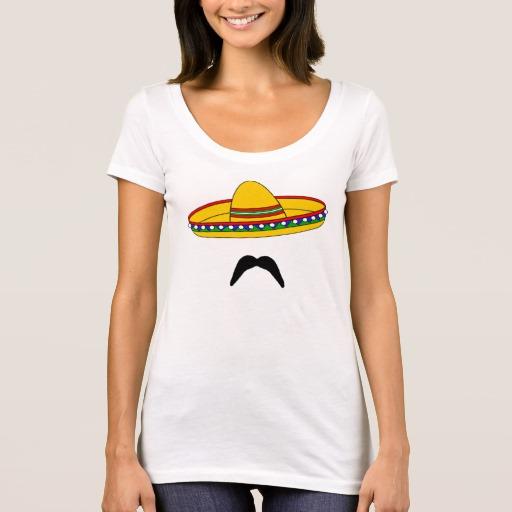 Mustache and Sombrero Women's Next Level Scoop Neck T-Shirt