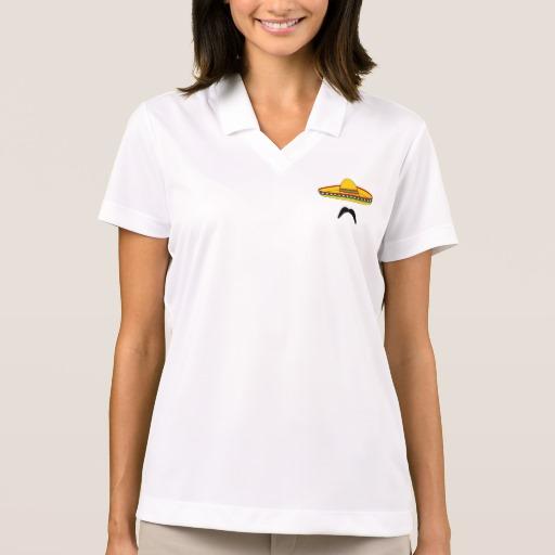 Mustache and Sombrero Women's Nike Dri-FIT Pique Polo Shirt