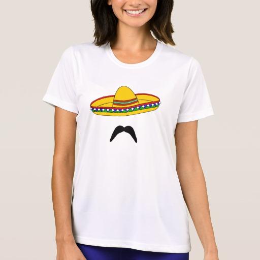 Mustache and Sombrero Women's Sport-Tek Competitor T-Shirt