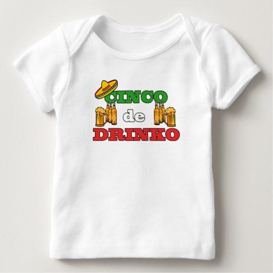 Cinco de Drinko Baby American Apparel Lap T-Shirt