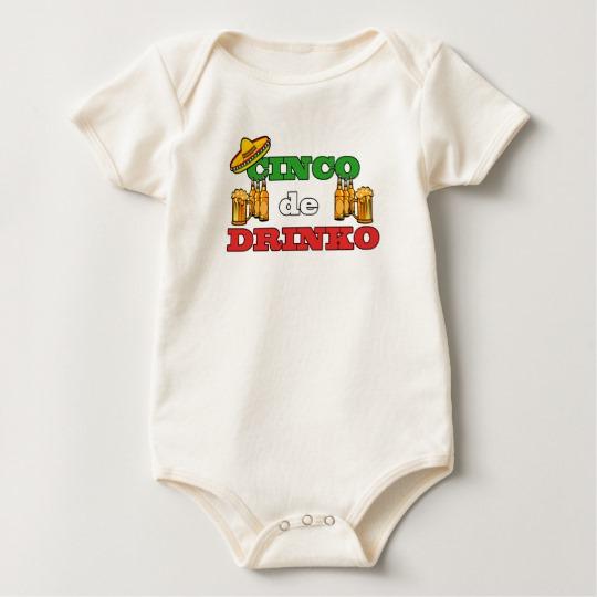 Cinco de Drinko Baby American Apparel Organic Bodysuit