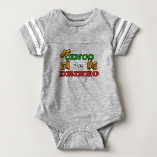 Cinco de Drinko Baby Football Bodysuit