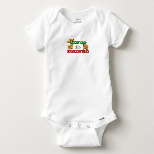 Cinco de Drinko Baby Gerber Cotton Onesie