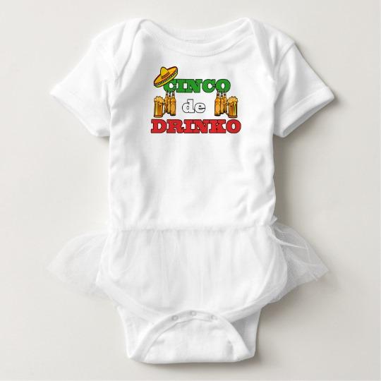 Cinco de Drinko Baby Tutu Bodysuit