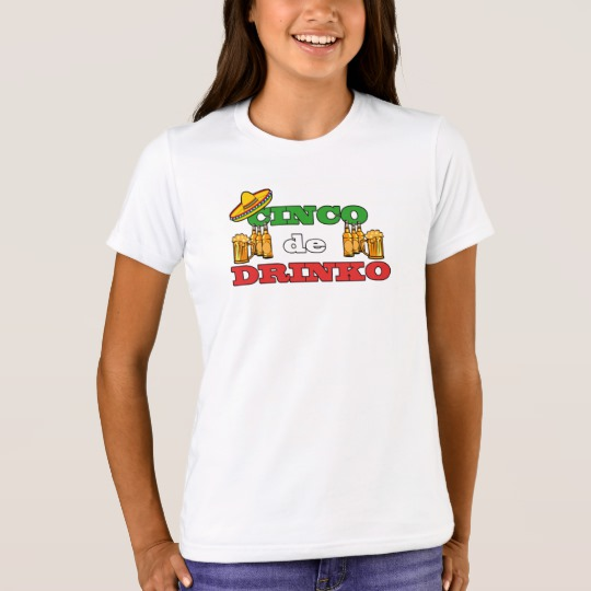 Cinco de Drinko Girls' Bella+Canvas Crew T-Shirt