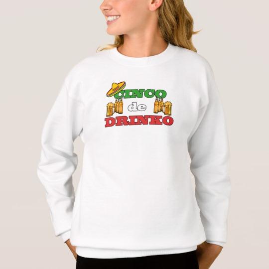 Cinco de Drinko Girls' Hanes ComfortBlend® Sweatshirt