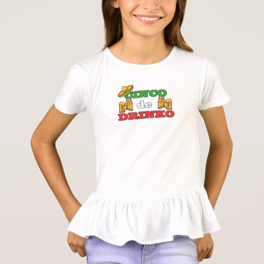 Cinco de Drinko Girls' Ruffle T-Shirt