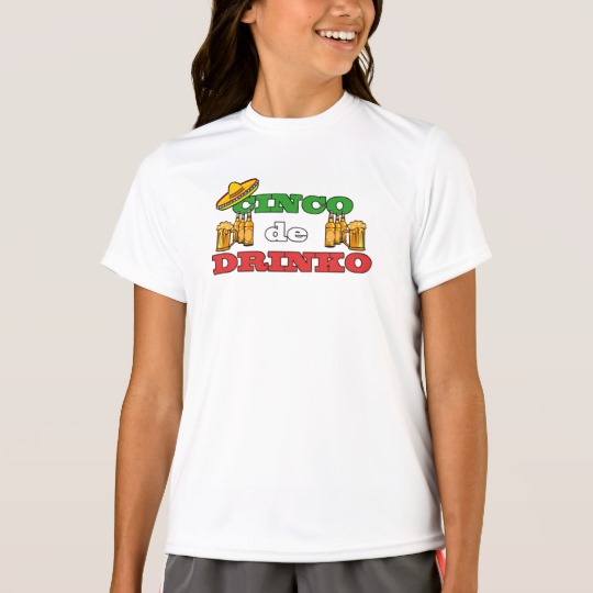 Cinco de Drinko Girls' Sport-Tek Competitor T-Shirt