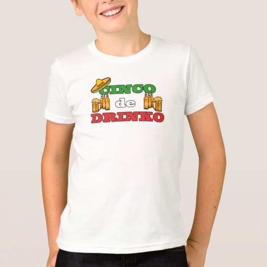 Cinco de Drinko Kids' American Apparel Fine Jersey T-Shirt