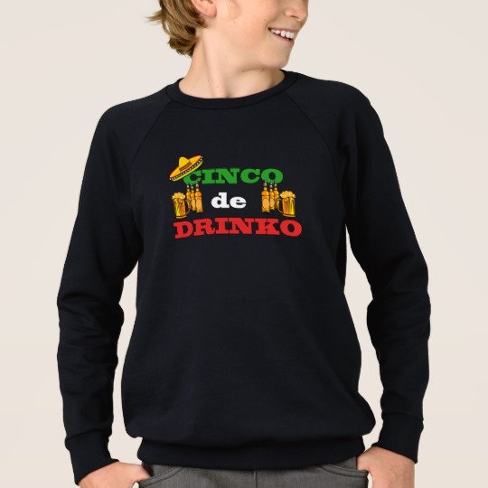 Cinco de Drinko Kids' American Apparel Raglan Sweatshirt