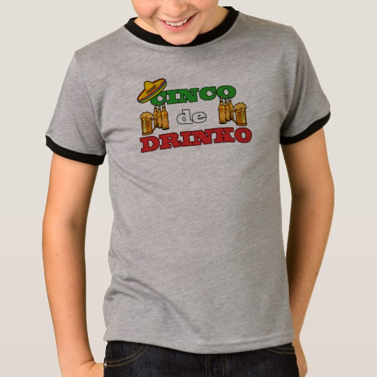 Cinco de Drinko Kids' Basic Ringer T-Shirt