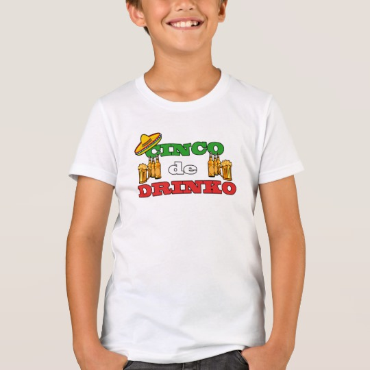 Cinco de Drinko Kids' Bella+Canvas Crew T-Shirt