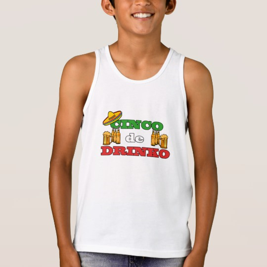 Cinco de Drinko Kids' Bella+Canvas Jersey Tank Top