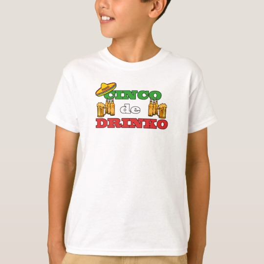 Cinco de Drinko Kids' Hanes TAGLESS® T-Shirt