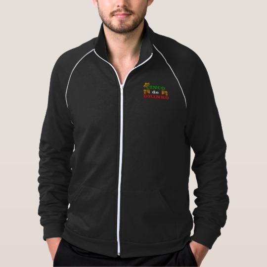 Cinco de Drinko Men's American Apparel California Fleece Track Jacket