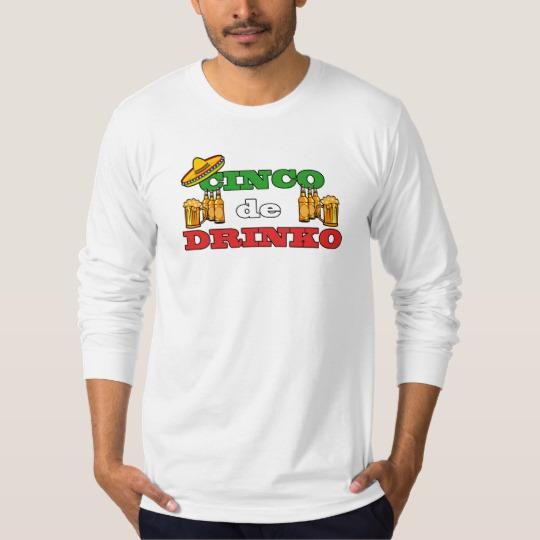 Cinco de Drinko Men's American Apparel Fine Jersey Long Sleeve T-Shirt