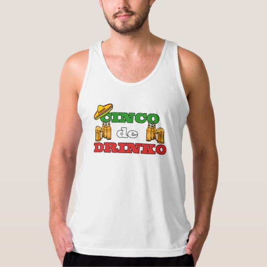 Cinco de Drinko Men's American Apparel Fine Jersey Tank Top