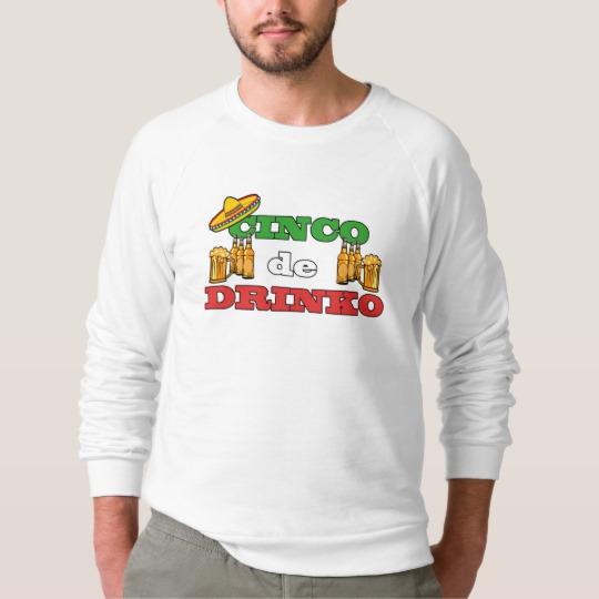 Cinco de Drinko Men's American Apparel Raglan Sweatshirt