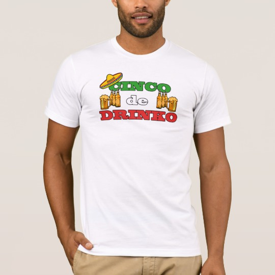 Cinco de Drinko Men's Basic American Apparel T-Shirt