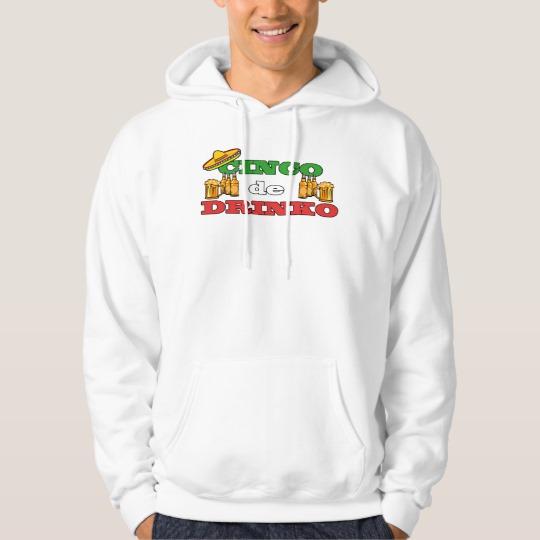 Cinco de Drinko Men's Basic Hooded Sweatshirt
