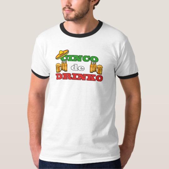 Cinco de Drinko Men's Basic Ringer T-Shirt