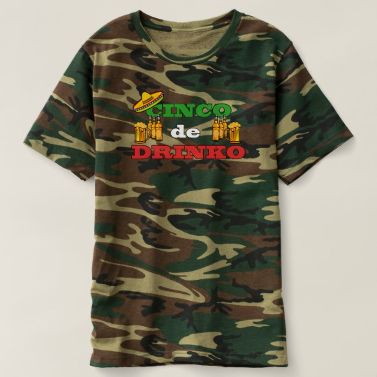 Cinco de Drinko Men's Camouflage T-Shirt