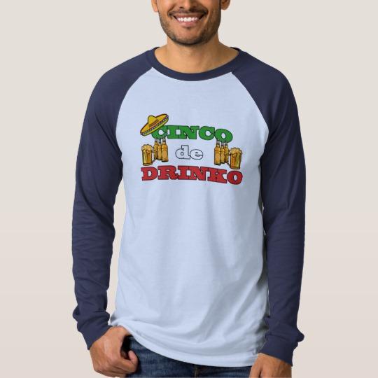 Cinco de Drinko Men's Canvas Long Sleeve Raglan T-Shirt