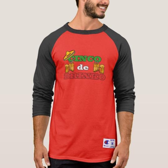 Cinco de Drinko Men's Champion 3/4 Sleeve Raglan T-Shirt
