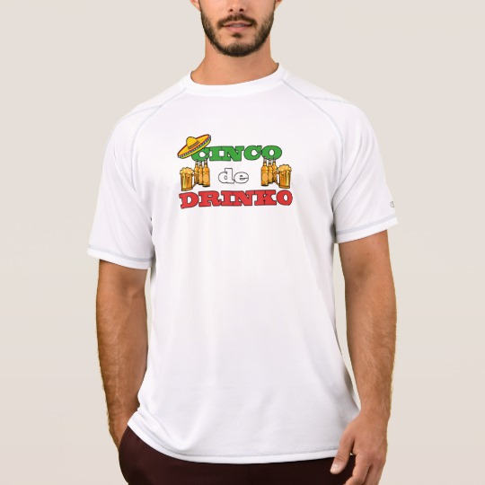 Cinco de Drinko Men's Champion Double Dry Mesh T-Shirt