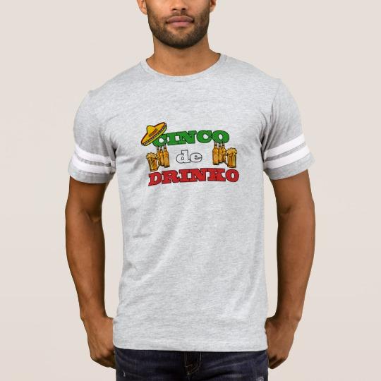 Cinco de Drinko Men's Football T-Shirt