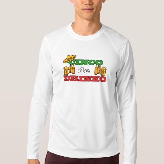 Cinco de Drinko Men's New Balance Long Sleeve T-Shirt