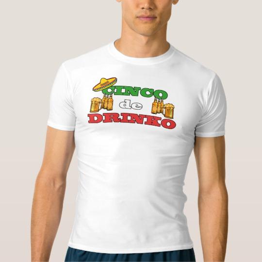 Cinco de Drinko Men's Performance Compression T-Shirt