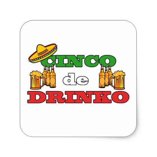 Cinco de Drinko Square Stickers