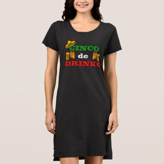Cinco de Drinko Women's Alternative Apparel T-Shirt Dress