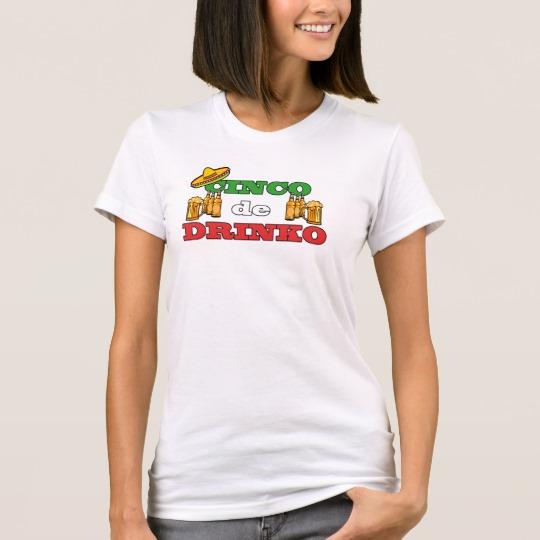 Cinco de Drinko Women's American Apparel Fine Jersey T-Shirt