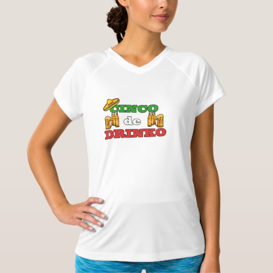 Cinco de Drinko Women's Champion Double-Dry V-Neck T-Shirt