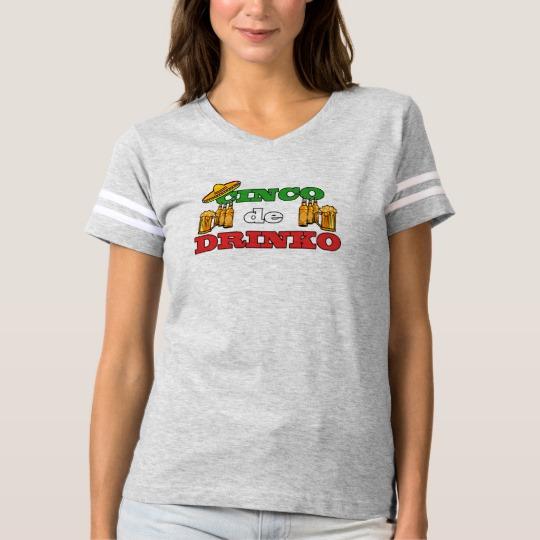 Cinco de Drinko Women's Football T-Shirt
