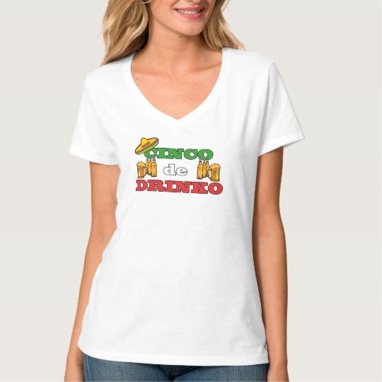 Cinco de Drinko Women's Hanes Nano V-Neck T-Shirt