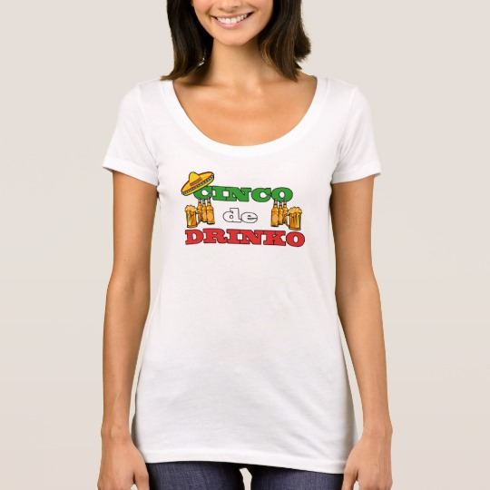 Cinco de Drinko Women's Next Level Scoop Neck T-Shirt