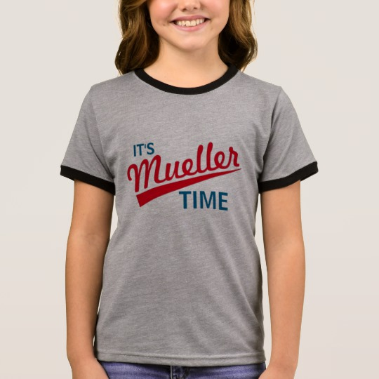 It's Mueller Time Girl's Ringer T-Shirt