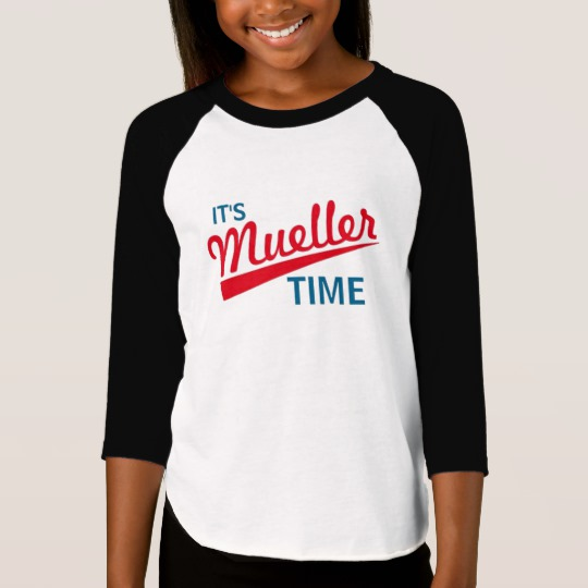 It's Mueller Time Girls' American Apparel 3/4 Sleeve Raglan T-Shirt