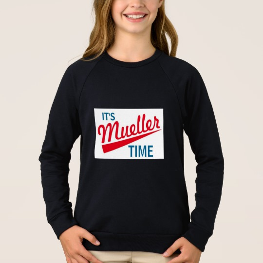 It's Mueller Time Girls' American Apparel Raglan Sweatshirt