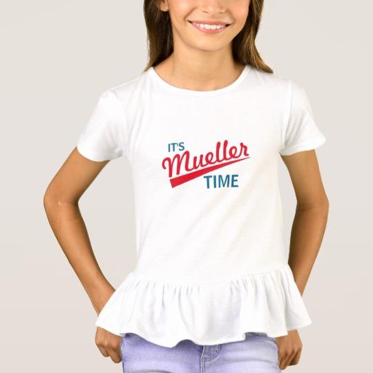 It's Mueller Time Girls' Ruffle T-Shirt